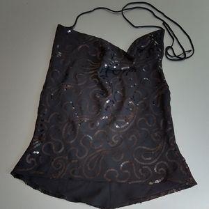 Sequins black top